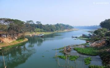 বান্দুরা সেতু থেকে ইছামতি নদী, নবাবগঞ্জ