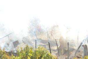 জয়পাড়ায় গ্যাস সিলিন্ডার বিশ্ফোরনে ভয়াবহ অগ্নিকান্ড