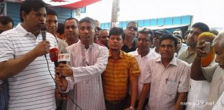 দোহারে ঢাকা জেলা বিএনপি'র ত্রাণ বিতরণ