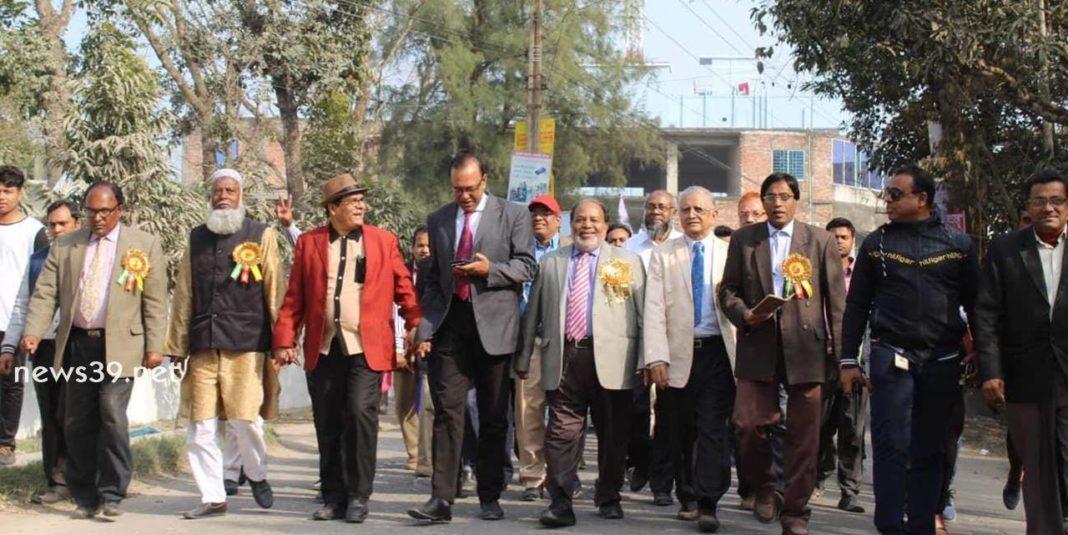 পদ্মা কলেজে রজত জয়ন্তীর প্রস্তুতি র্যালী অনুষ্ঠিত