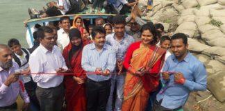"""নারিশায় শিক্ষার্থীদের নদী পারাপার করবে """"শিক্ষা তরী"""""""