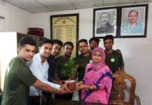 দোহার উপজেলা নির্বাহী কর্মকর্তার সাথে দোহার গ্রীন আর্মির সাক্ষাত