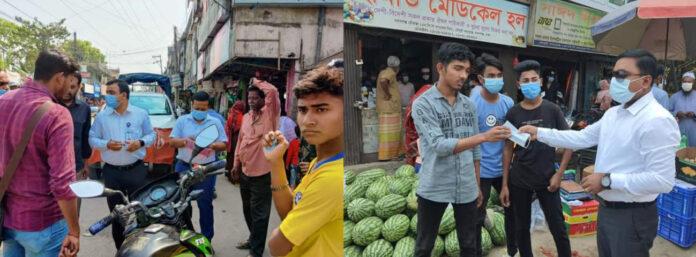 দোহার-নবাবগঞ্জে স্বাস্থ্যবিধি না মানায় প্রশাসনের অভিযান