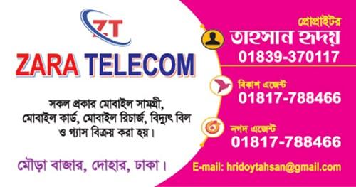 zara telecom logo