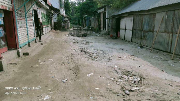 দোহার পৌরসভার রাস্তার বেহাল দশা